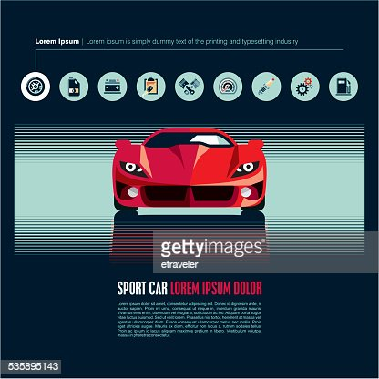 Sport car vector : Vector Art