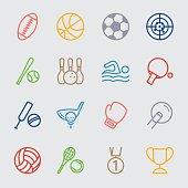 Sports color line icon
