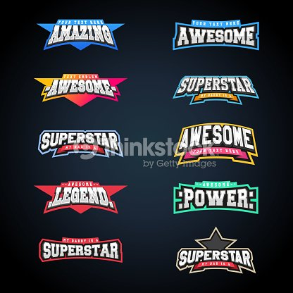 Sport emblem typography set. Super icon for your t-shirt. Mega icontype collection : stock vector