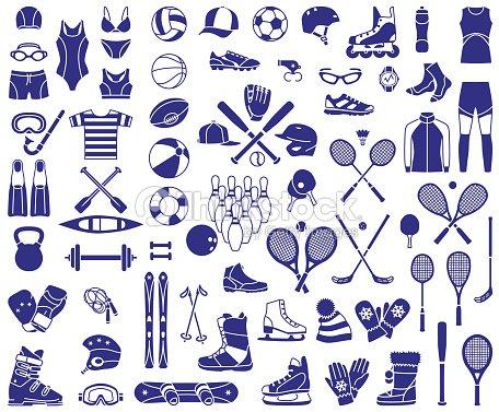 Quipement de sport clipart vectoriel thinkstock - Sport loisir equipement ...
