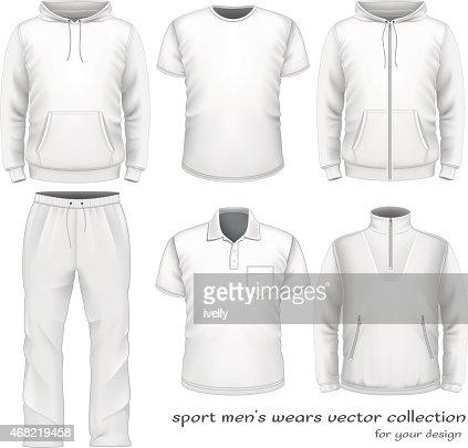 Sport men wear collection. : stock vector