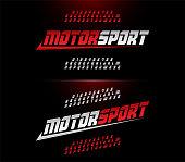 sport modern alphabet and number fonts. Motor sport racing typography italic font. vector illustrator