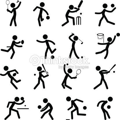 Sport Pictogram Icon Set 1 - Illustration libre de droits...