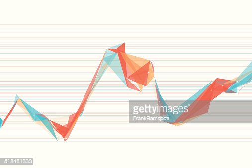 Growth Polygon Triangle Graph Vector Art | Getty Images