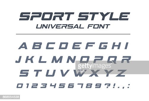 Sport style universal font. Fast speed, futuristic, technology, future alphabet. : Vector Art