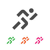 Sport Template. Running Sportsman Logotype. Runner Emblem. Vector