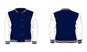 vector illustration of Sport varsity jacket