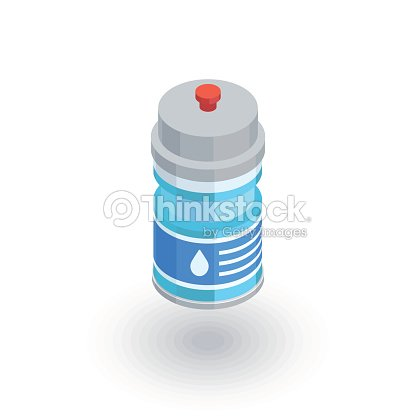 Sport water bottle isometric flat icon. 3d vector