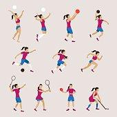 Athletics, Games, Sportswoman, Action