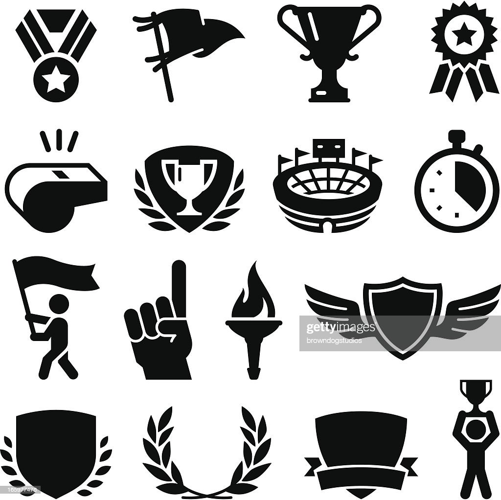 Sports Awards - Black Series : Vector Art
