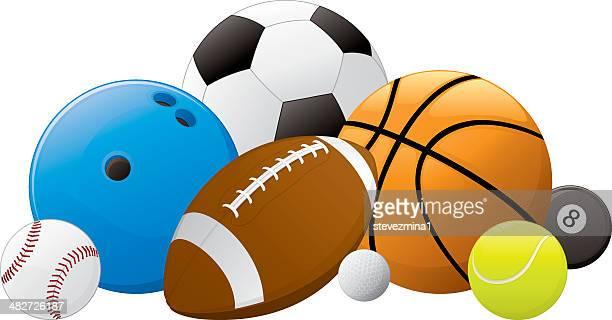 Sports Ball Pile