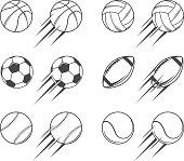 Set of vector sports balls