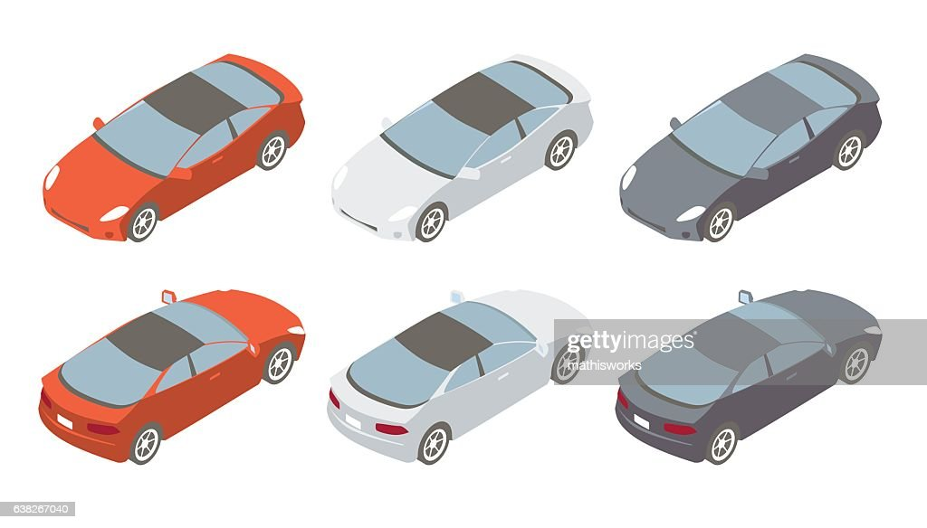Sports Cars Isometric Illustration : Vector Art