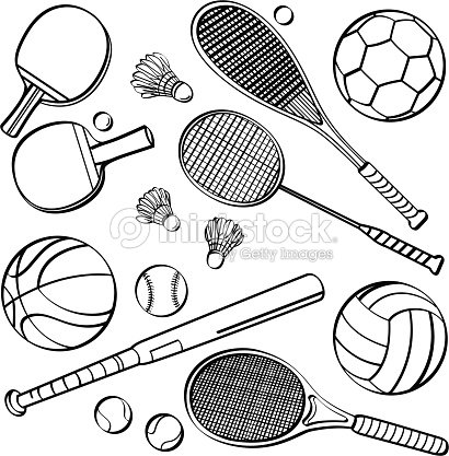 sports equipment collections stock vector thinkstock