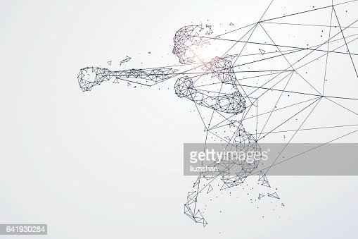Sports Graphics particles, Network connection turned into, vector illustration. : stock vector