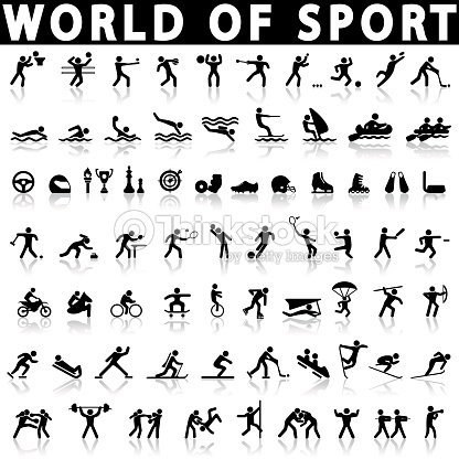 sports icons set. : stock vector
