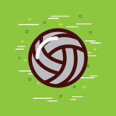 volleyball sports or exercise imagevector illustration design