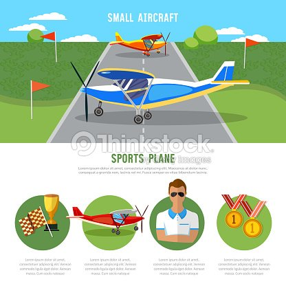 Sports plane, air show. Infographics biplane, aviation school flying school professional pilot competitions of airplanes and biplanes excursion flights