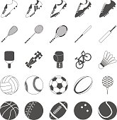 Sports Vectors for various popular sports such as football, rugby, soccer, tennis, badminton, racing, table tennis, squash, baseball, cricket, boxing, golf and bowling.