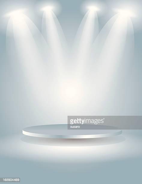 Punktstrahler Der ovale Bühne