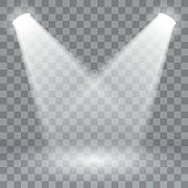 Spotlights scene light effects. Stage light spotlight vector . Vector illustration