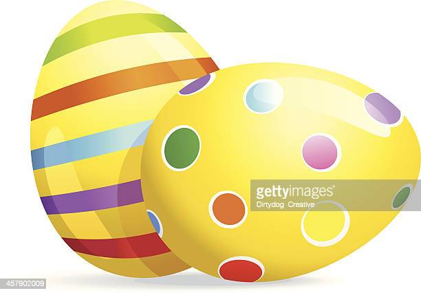 Spotted and Striped painted Easter Eggs