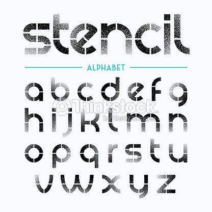 spray painted stencil alphabet letters vector art