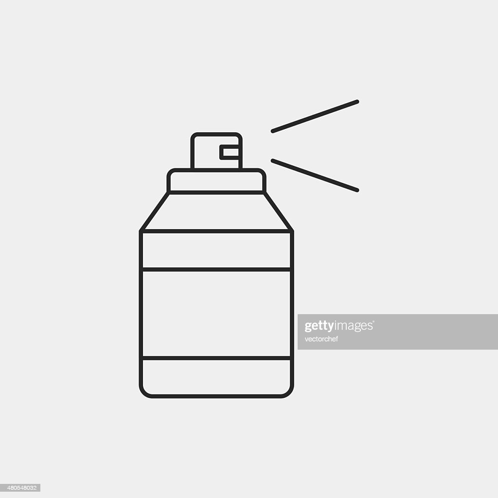 Spray painting line icon : Vector Art