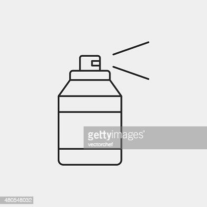 Pintura por pulverização ícone de linha : Arte vetorial