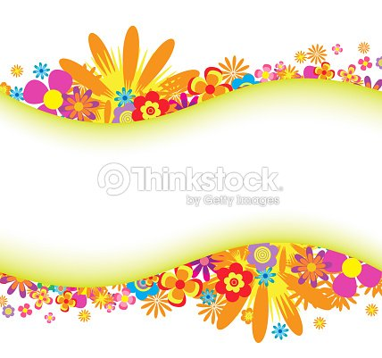 Spring And Summer Flower Colorful Background Vector Art
