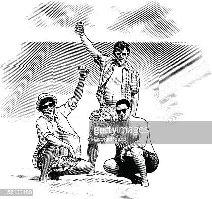 Spring Break Party at the Beach : Vektorgrafik