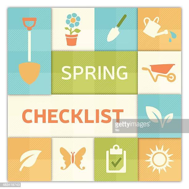 Spring Checklist Background
