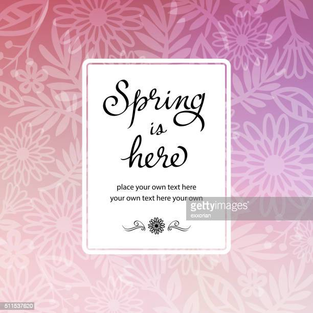 Spring Floral Background Invitation