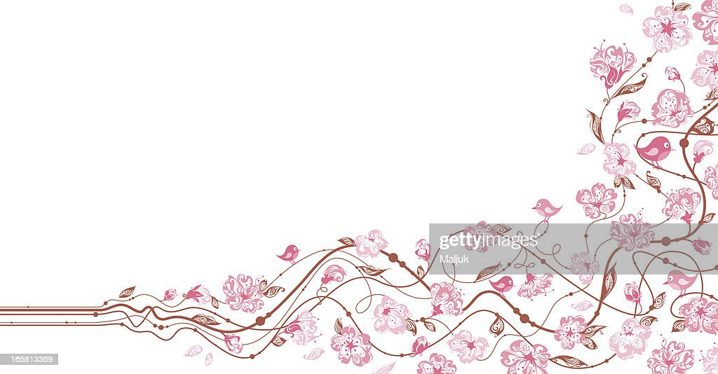 Spring floral background : Vector Art