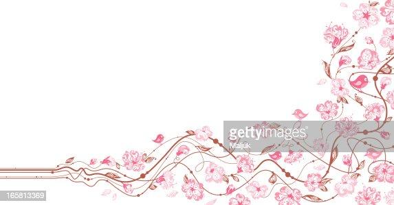 Spring floral background : Vector Art