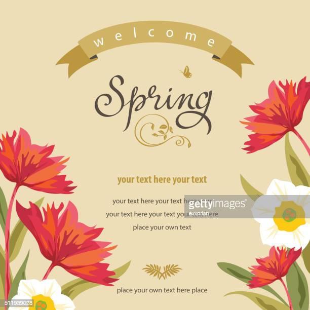 Frühling Blumen Hintergrund
