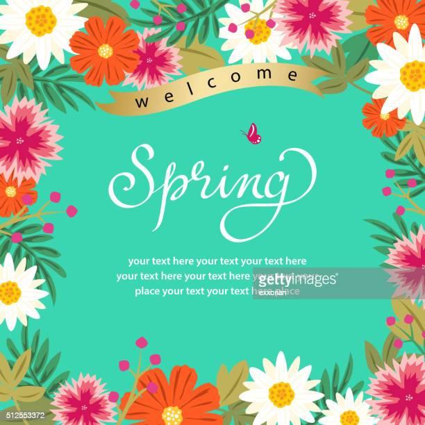 Frühling Floral Frame