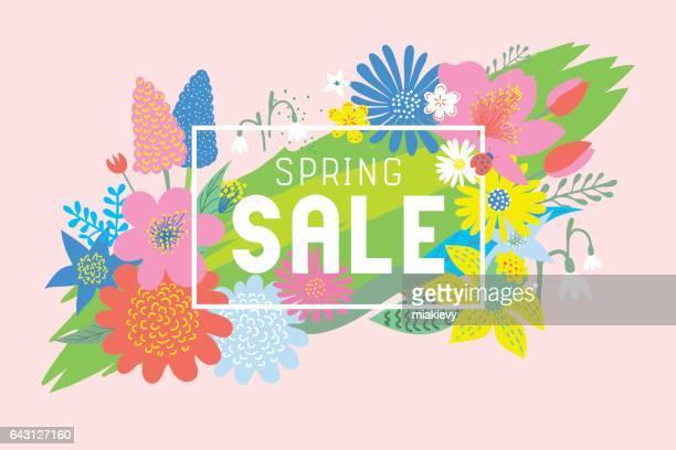 Spring sale flowers bloom