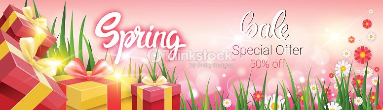 43aa724dde1 Spring Sale Shopping Special Offer Holiday Banner stock vector ...