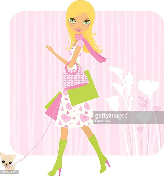 Spring shopping mit dem Hund