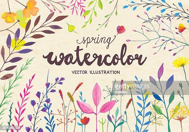 Aquarell Frühling