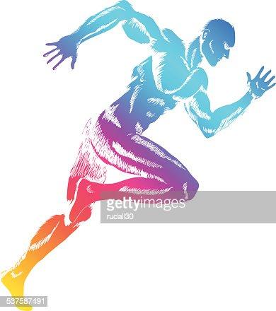 sprinteur clipart vectoriel thinkstock