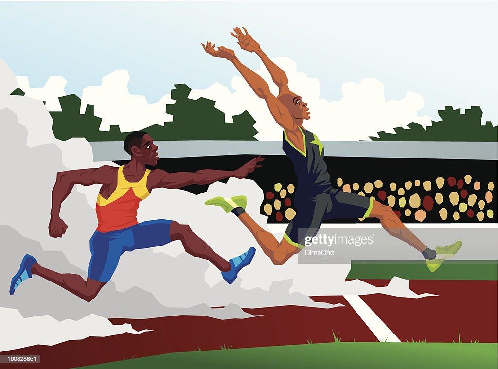 Sprinters : Vector Art