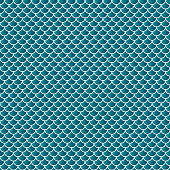 Squama fish snake lizard scales seamless background. Green pattern.