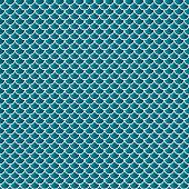 Squama fish snake lizard scales seamless background. Green pattern.