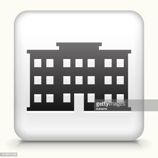 Square Knopf mit Gebäude Lizenzfreie Vektorgrafiken