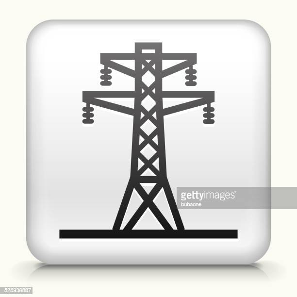 Square Button with Electric Tower