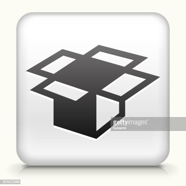 Square Button with Empty Box