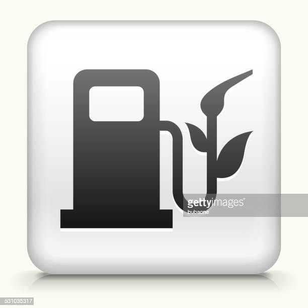 Square Button with Enviromental Gas Pump