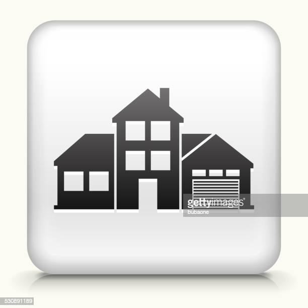 Square Button with Family House